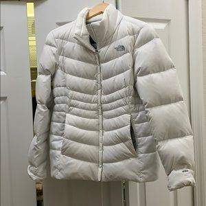 North Face Anconcagua white puffer
